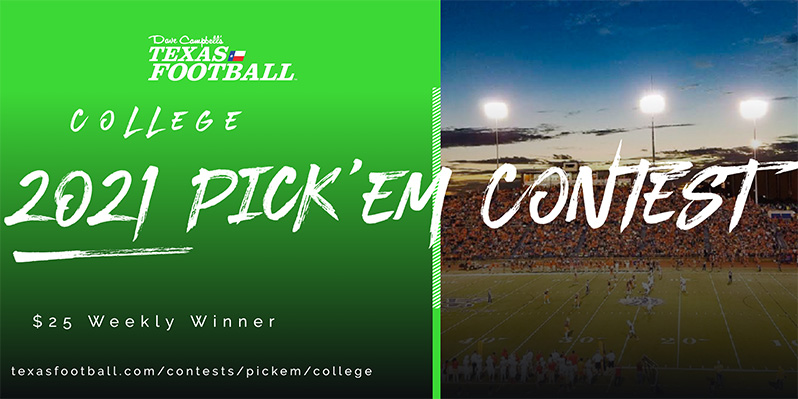 Texas College Football Pick 'Em Contest